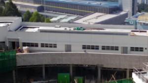 安達邨新家庭中心興建進 度(2016年1月1日)內園正門